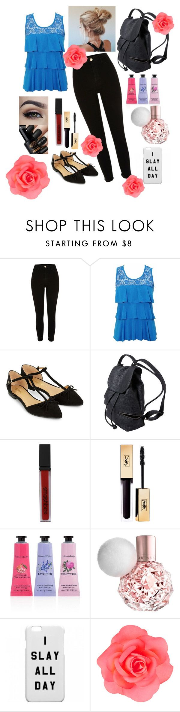 """Blue and Black"" by kaylamh2000 ❤ liked on Polyvore featuring River Island, Accessorize, Smashbox and Crabtree & Evelyn"