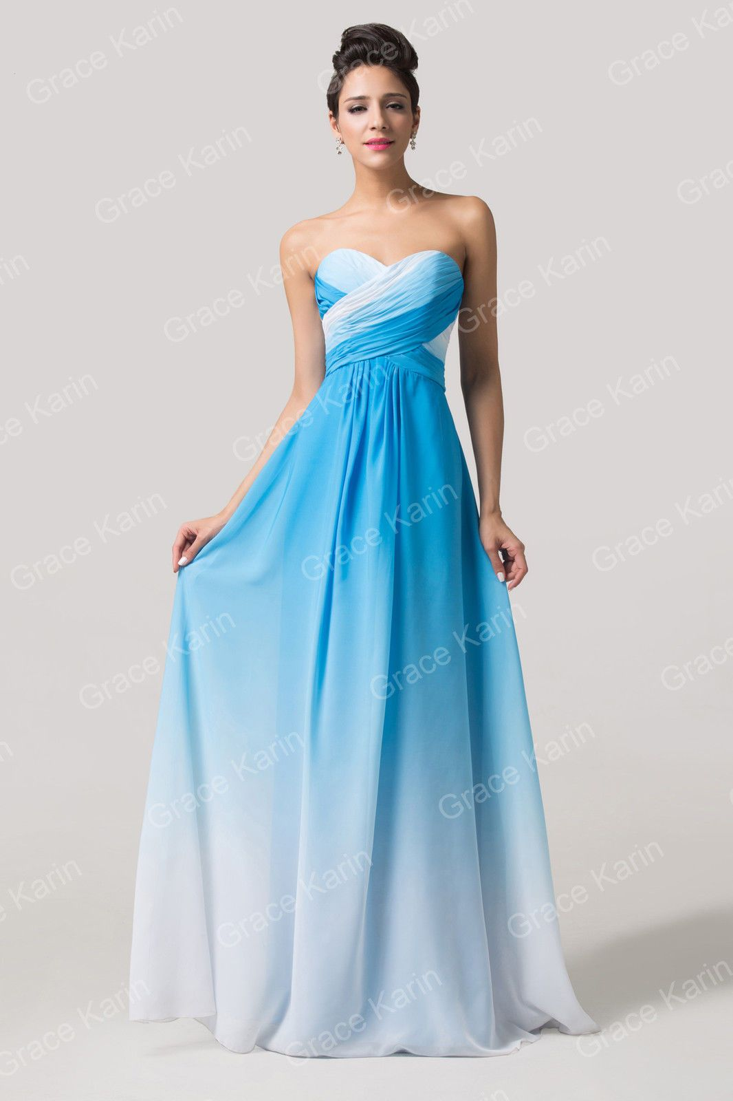 Plus Size Chiffon Ball Gown Homecoming Evening Prom Beach Wedding ...