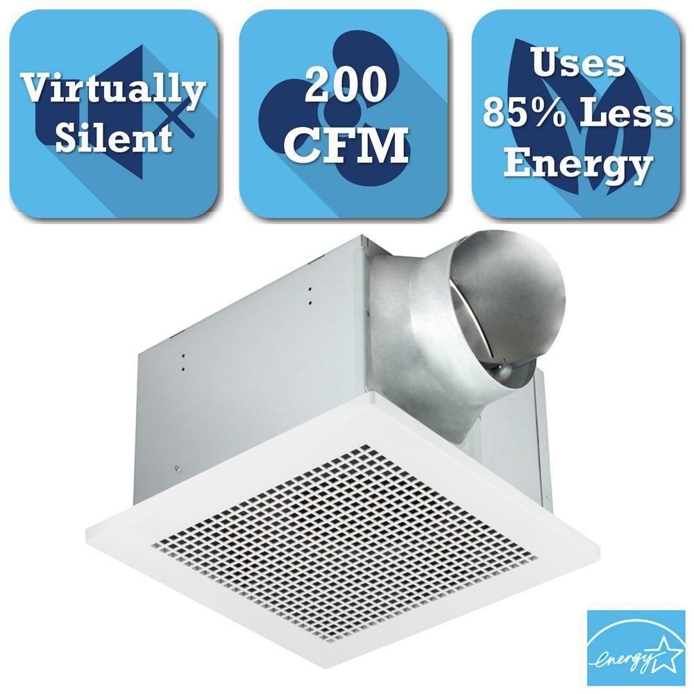 Delta Breez Professional Pro Series 200 Cfm Ceiling Bathroom Exhaust Fan Energy Star Pro200 Bathroom Exhaust Fan Exhausted Steam Showers Bathroom