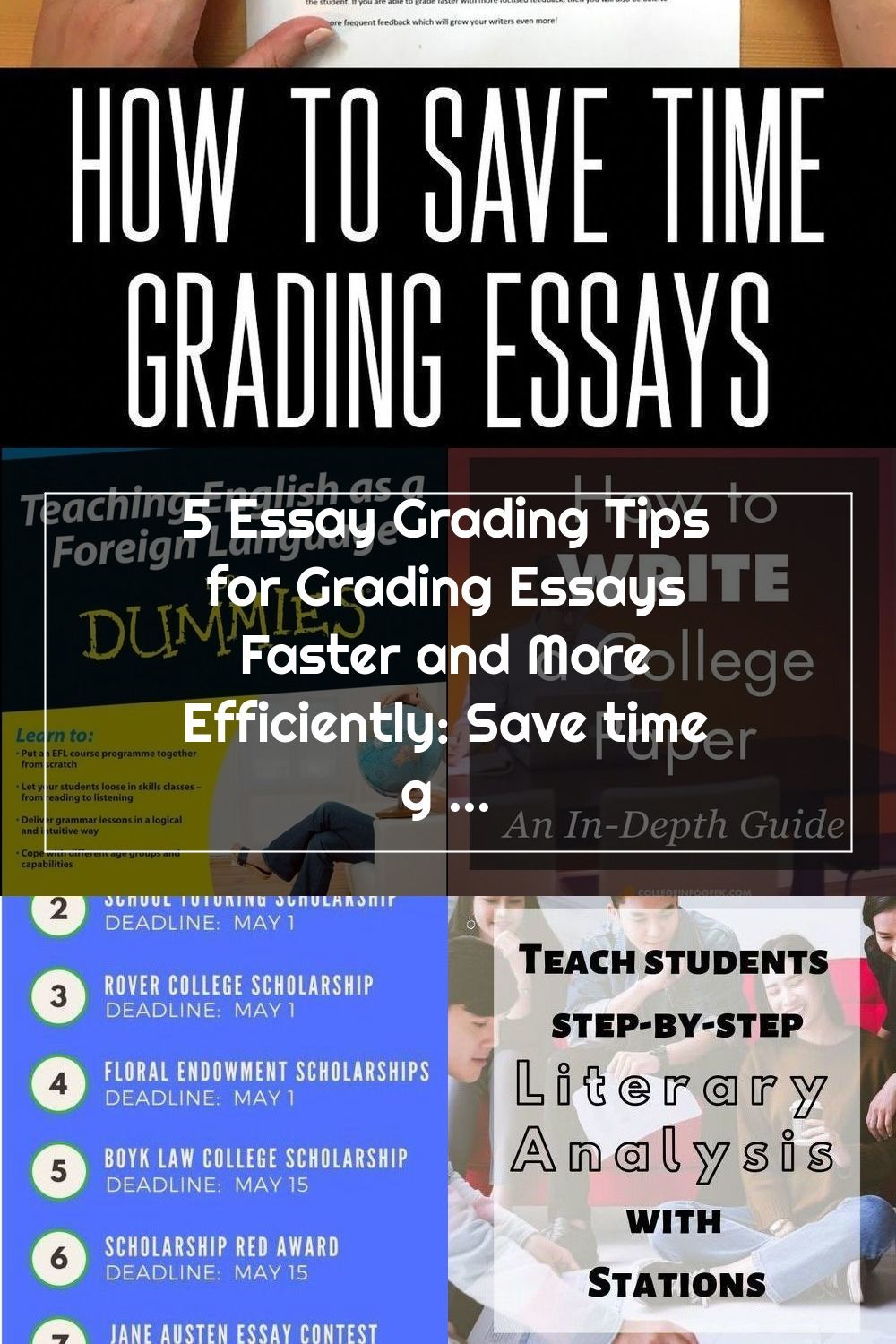 Building Book Love 5 Essay Grading Tips For Grading Essays Faster And More Efficiently Save Time Grading Essays Online Or In Print Onlineschools Webcourses Em 2020