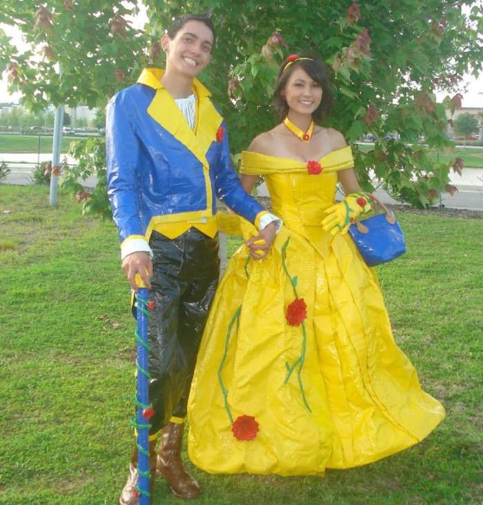 duct tape prom dresses | ... prom outfits. They crafted the ...