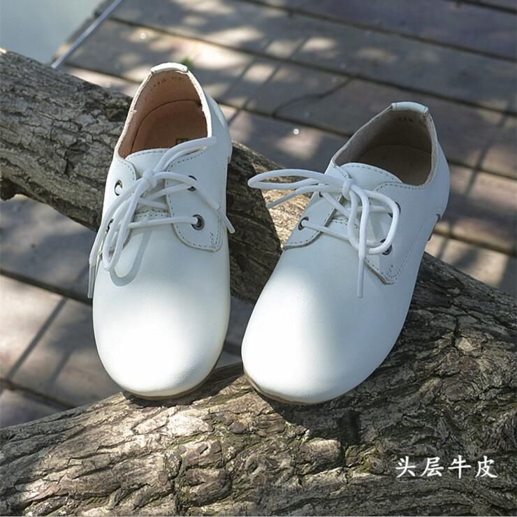 Boys School Leather Shoes Kids Genuine Leather Wedding Shoes Children Oxford Shoes Black 11M US