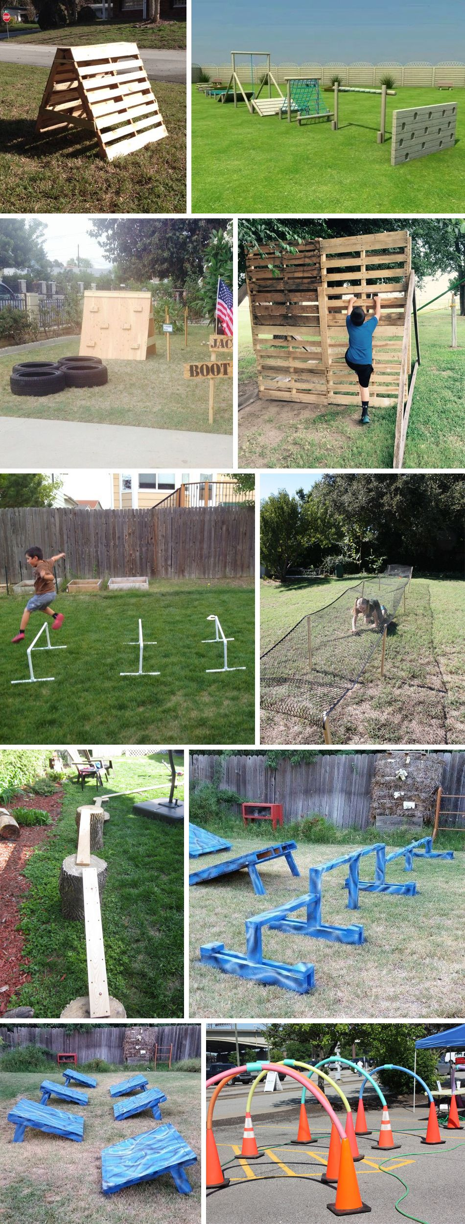 Diy Obstacles Backyard Obstacle Course Kids Obstacle Course American Ninja Warrior Backyard diy obstacle course