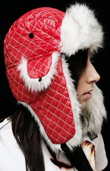 Quilted -Pilot Hat -Red | Cybershop