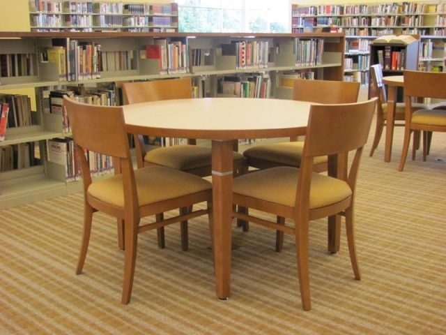 Wooden Library Furniture ~ Small group seating wood library spaces pinterest