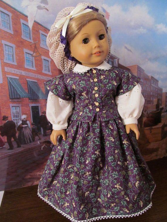 Civil War Dress, Historical Dress, Pantaloons, Slip, 18 Inch Doll Clothes,  #Civil #clothes #... #historicaldollclothes