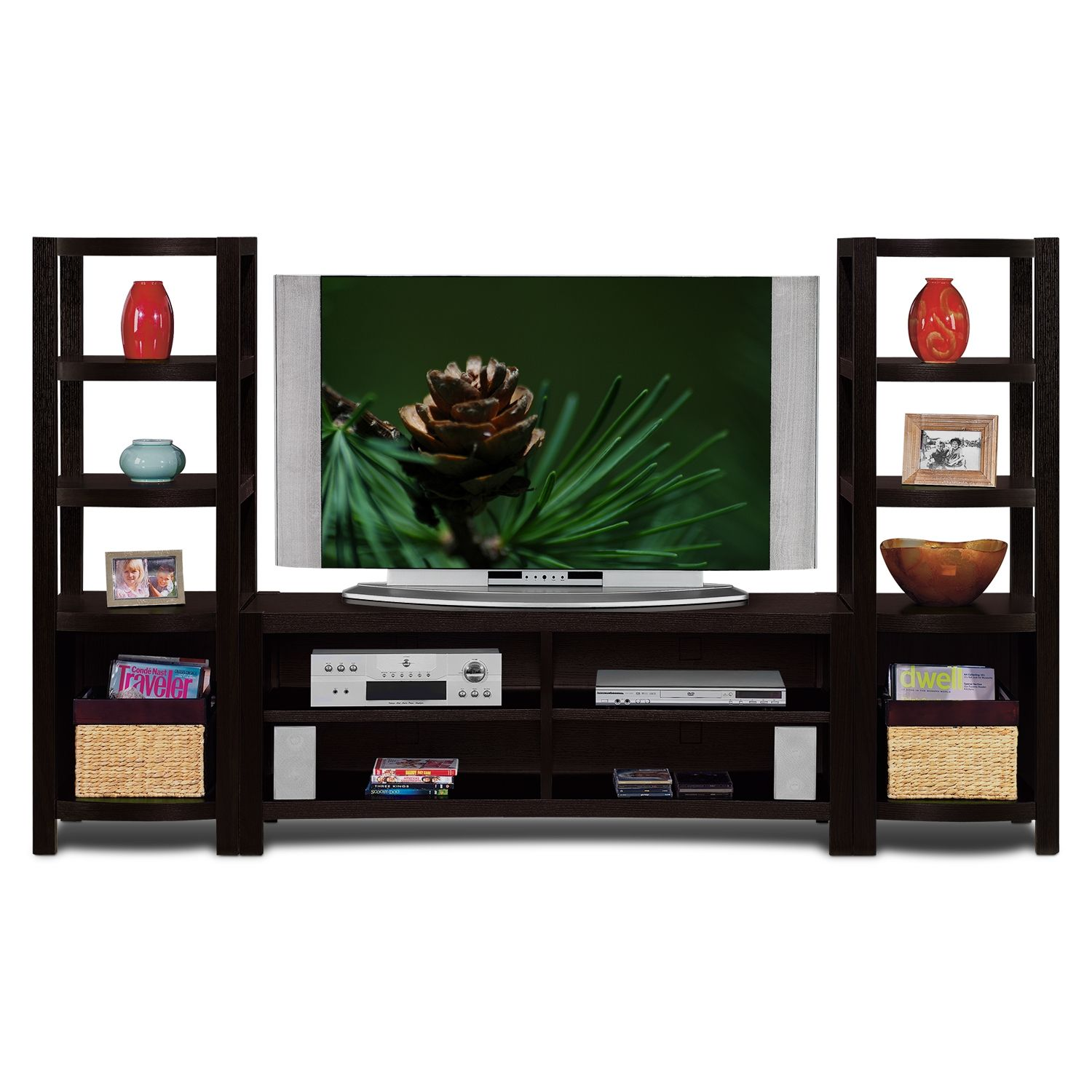 Townsend Entertainment Wall Units 3 Pc. Entertainment Wall Unit   Value  City Furniture