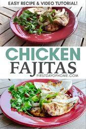 Easy Chicken Fajita Recipe  - Mexican Food Recipes - #Chicken #easy #Fajita #Food #Mexican #Recipe #Recipes #beeffajitarecipe