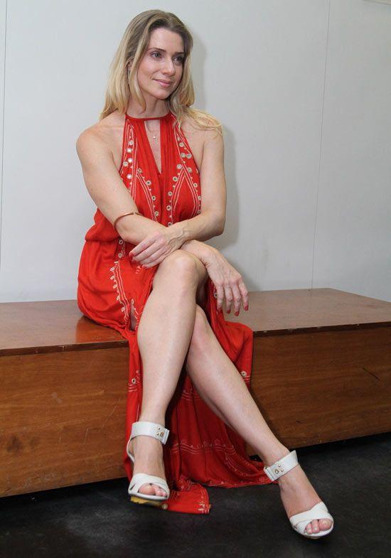 Letícia Spiller faz pré-estreia de filme, no Rio de Janeiro
