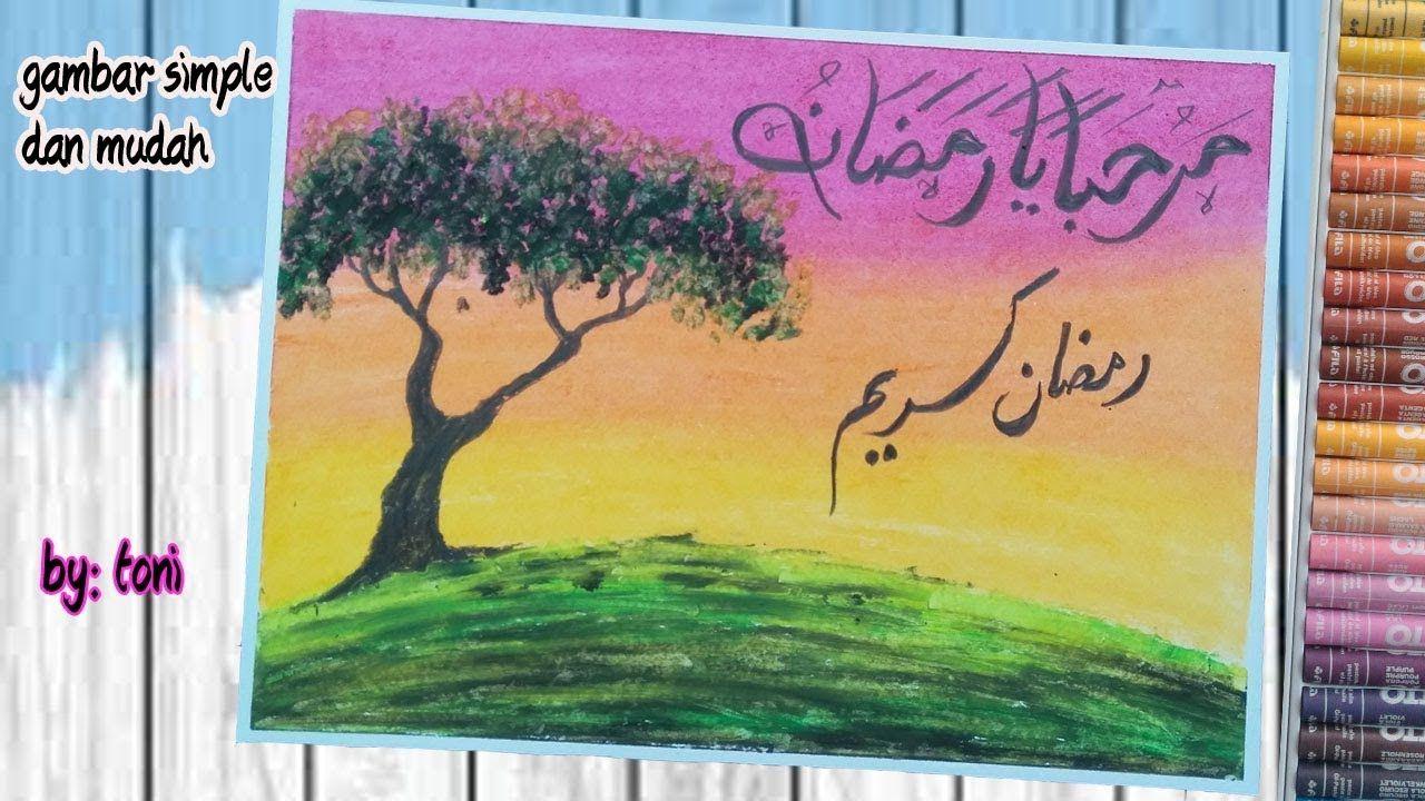 cara membuat kaligrafi sederhana dan gambar pemandangan
