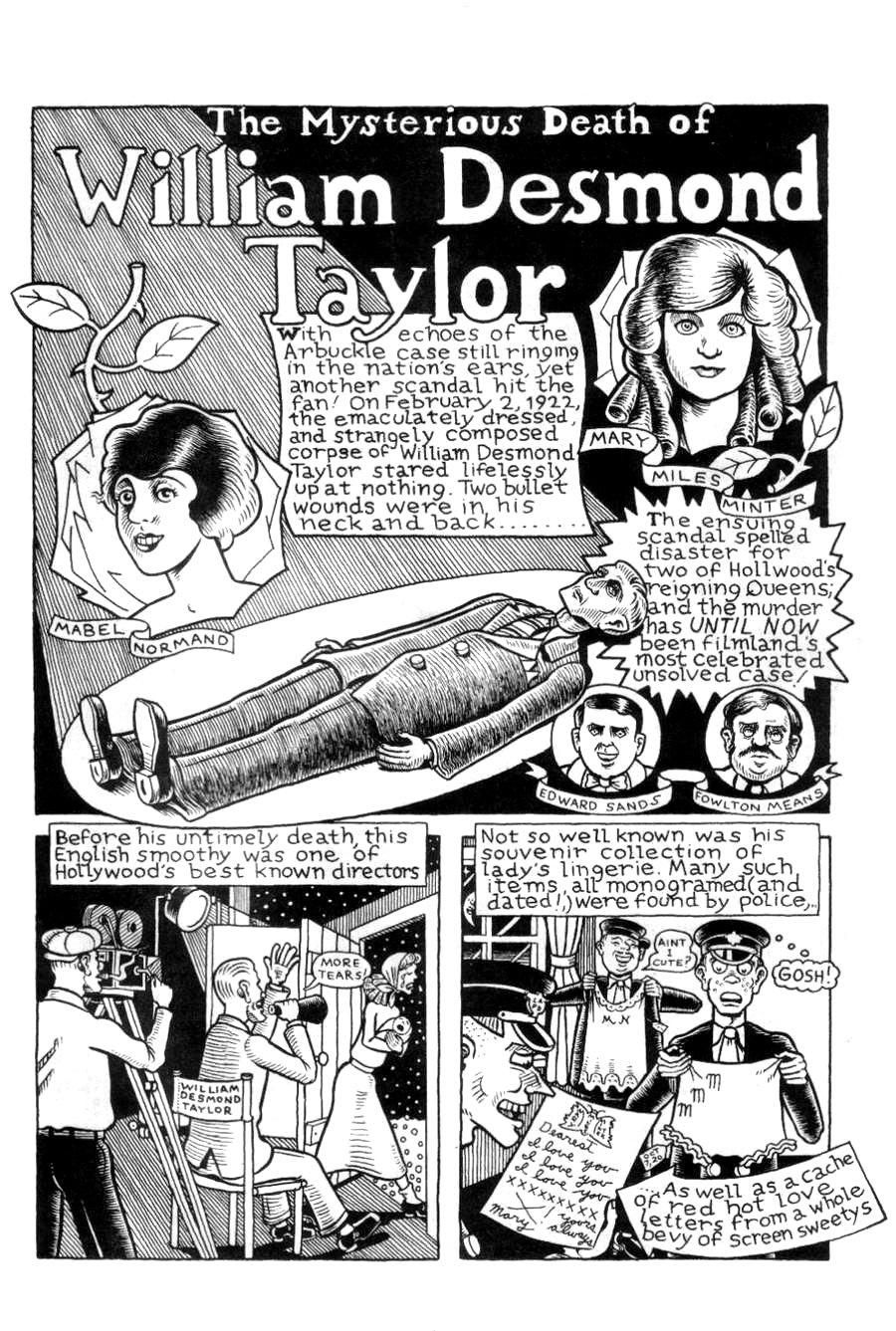 Factually inaccurate and wantonly sensational Kim Deitch's illustration of William Desmond Taylor's story is still pretty fun.