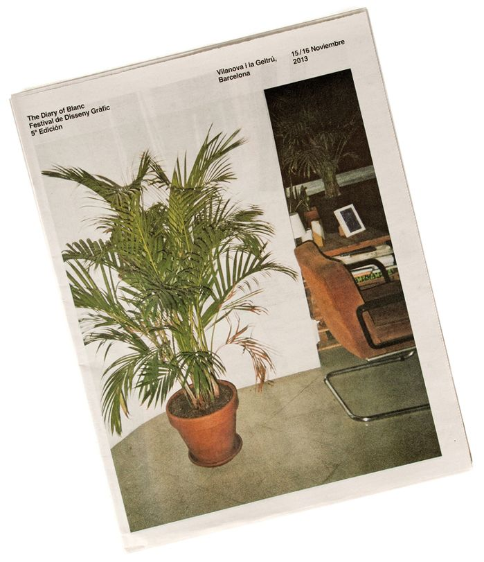 dailydesigner:  The Diary of Blanc Newspaper by P.A.R.