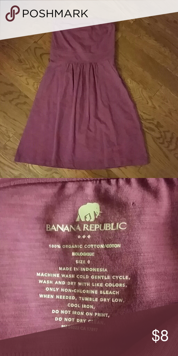 Banana Republic purple strapless dress, 0 small dot on the back was the price tag, removed. The dress is still like new, it has a zipper on side. The size is 0 Banana Republic Dresses Strapless