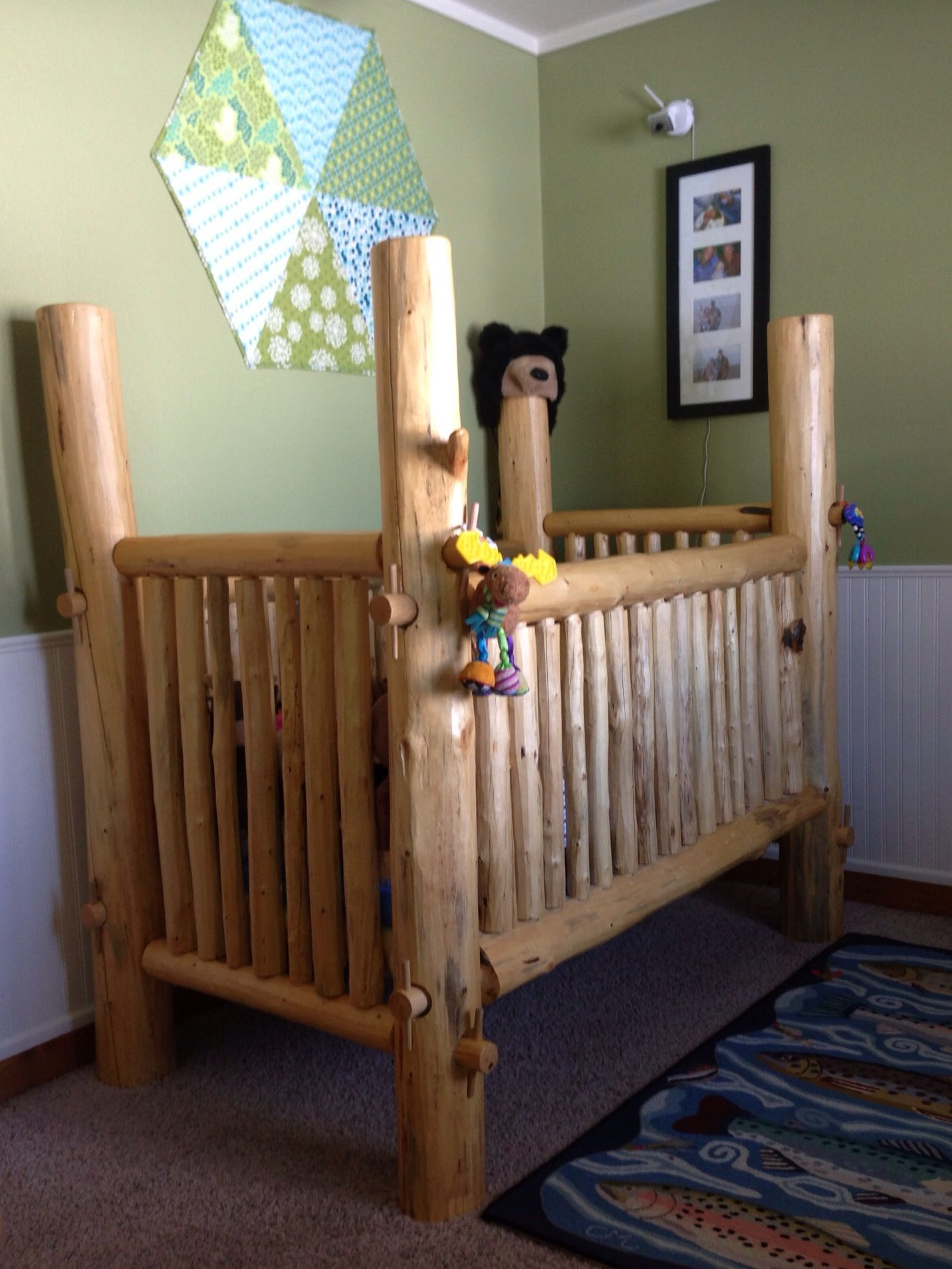 Jameson panel crib for sale - Our Handmade Lodgepole Pine Crib My Husband And I Found Instructions Online At Http