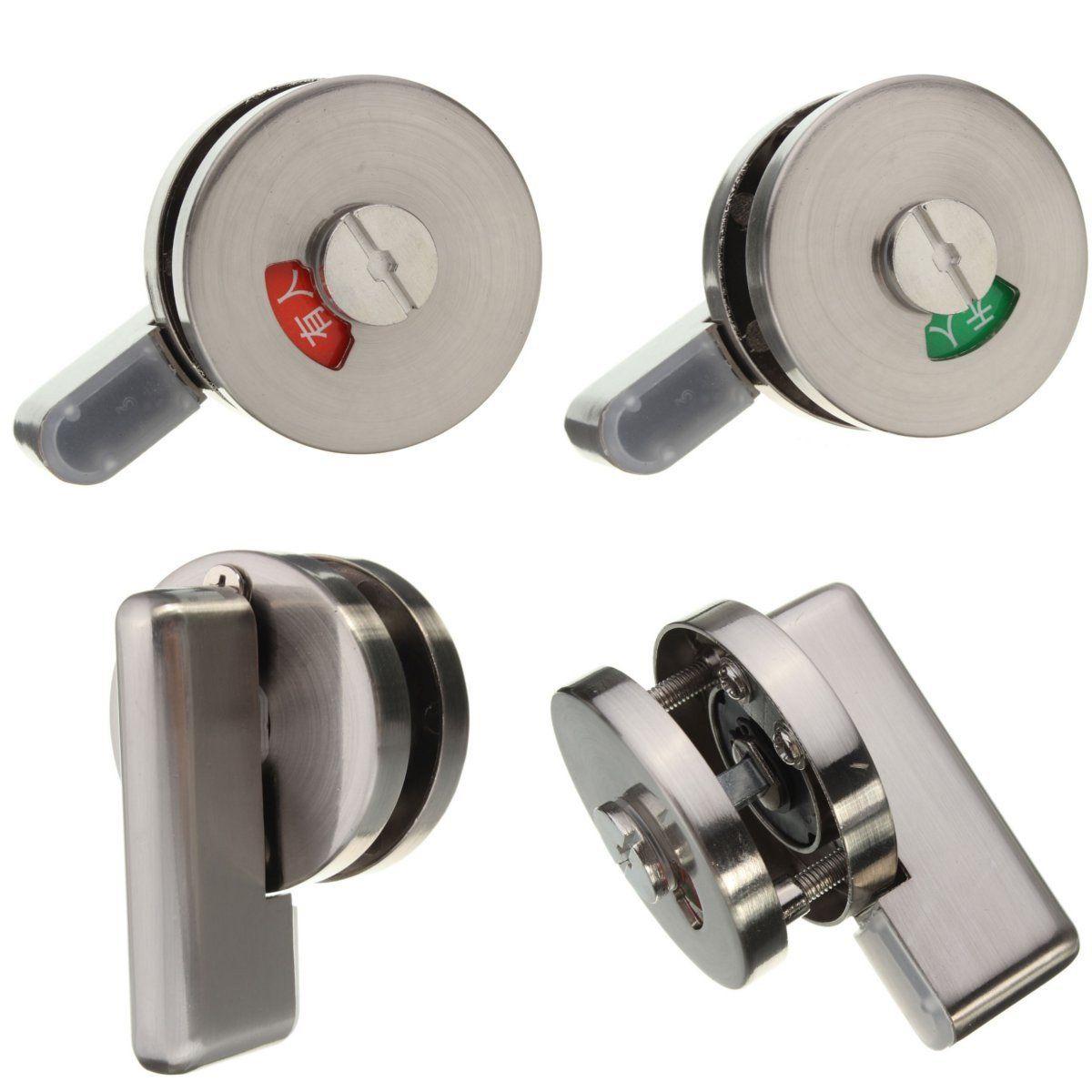 Us 6 40 Stainless Steel Bathroom Toilet Door Indicator Turn Release Lock Latch Bolt Stainless Steel Bathroom Toilet Door Indicator Turn Release Lock