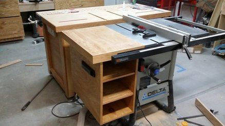 table saw accessory storage table saw accessories table saw rh pinterest com