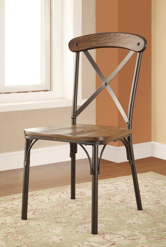 olem wood metal dining chair bronze set of 2 in 2019 dining rh pinterest com
