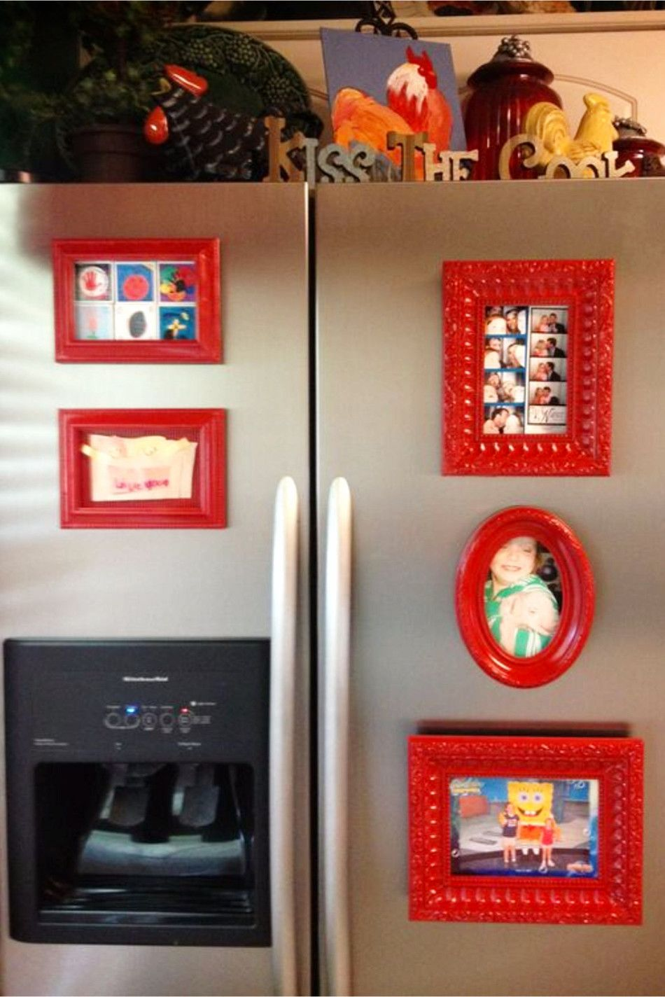 DIY} How To Organize Pictures on Your Refrigerator | Magnetic ...
