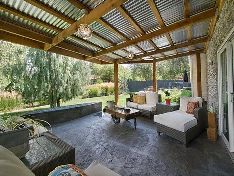 Metal Porch Roof Ideas Patio Design Pergola Patio Patio
