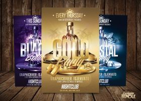 bottle party bundle exclusive flyers package by romecreation