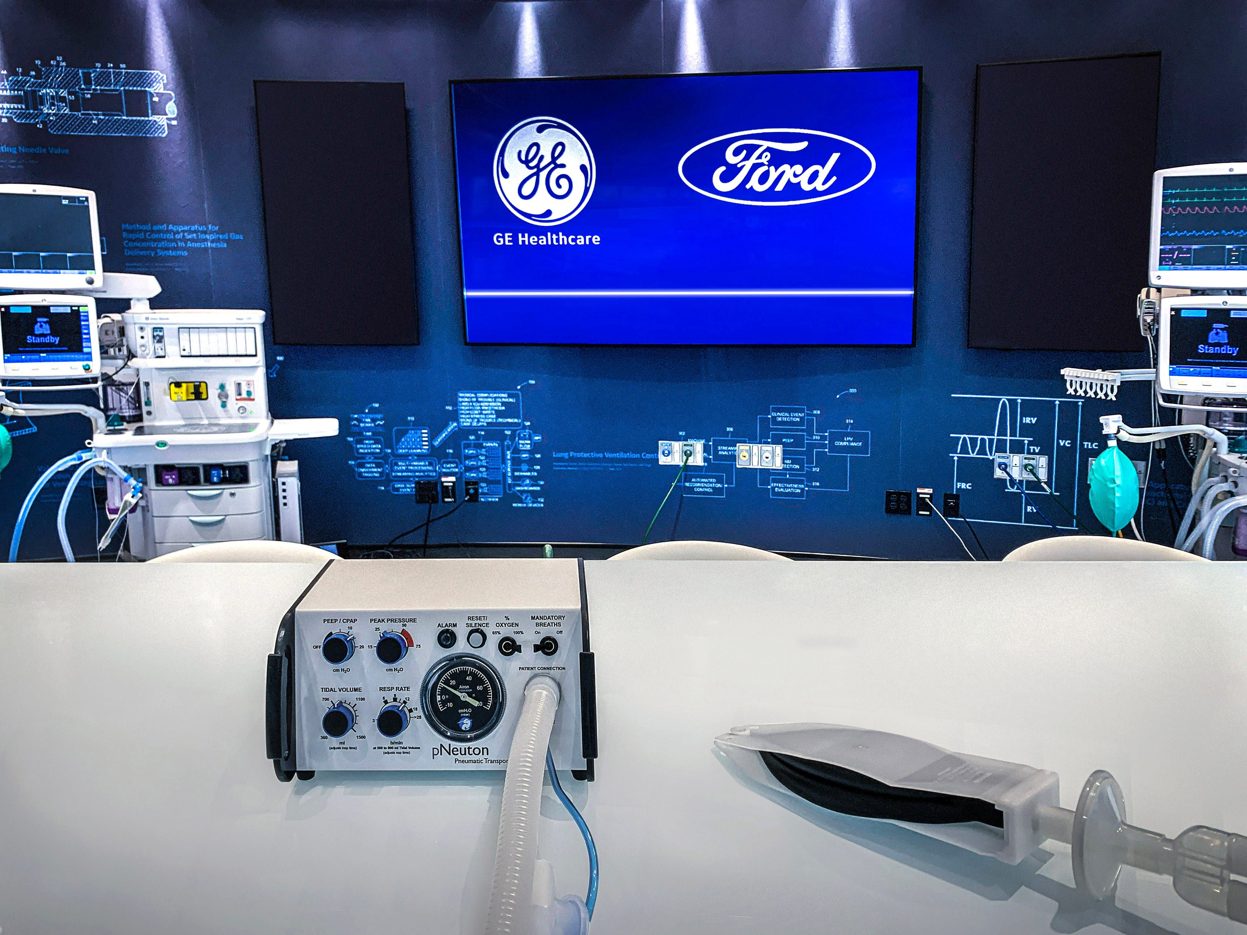 Next 100 Days Ford Ge Healthcare Will Team Up To Produce 50 000