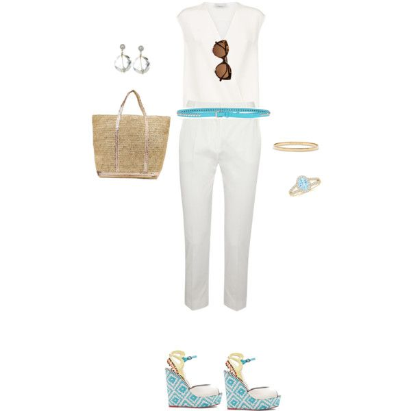 White by tsurumi-mai on Polyvore featuring ファッション, 3.1 Phillip Lim, MaxMara, Sophia Webster, Vanessa Bruno Athé, Kate Spade, Dsquared2, Illesteva and Kenneth Jay Lane