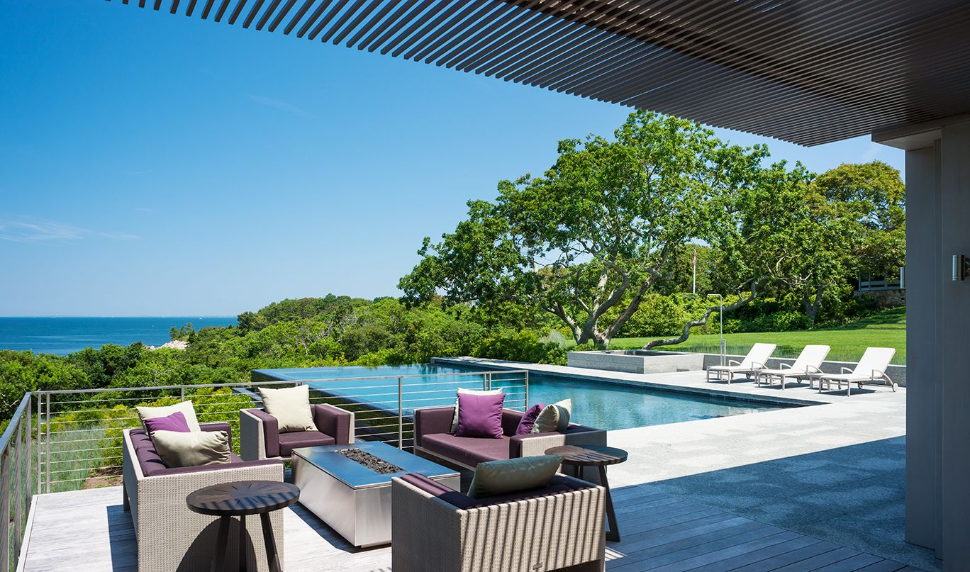 Infinity Pool, Pool Terrace, Patio, Fire Pit   Landscape Architecture By  Stephen Stimson