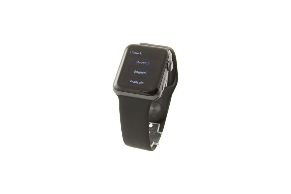 Apple Watch Series 3 42mm Aluminiumgehause In Space Grau Mit Sportarmband 981 Sport Armband Armband Handys