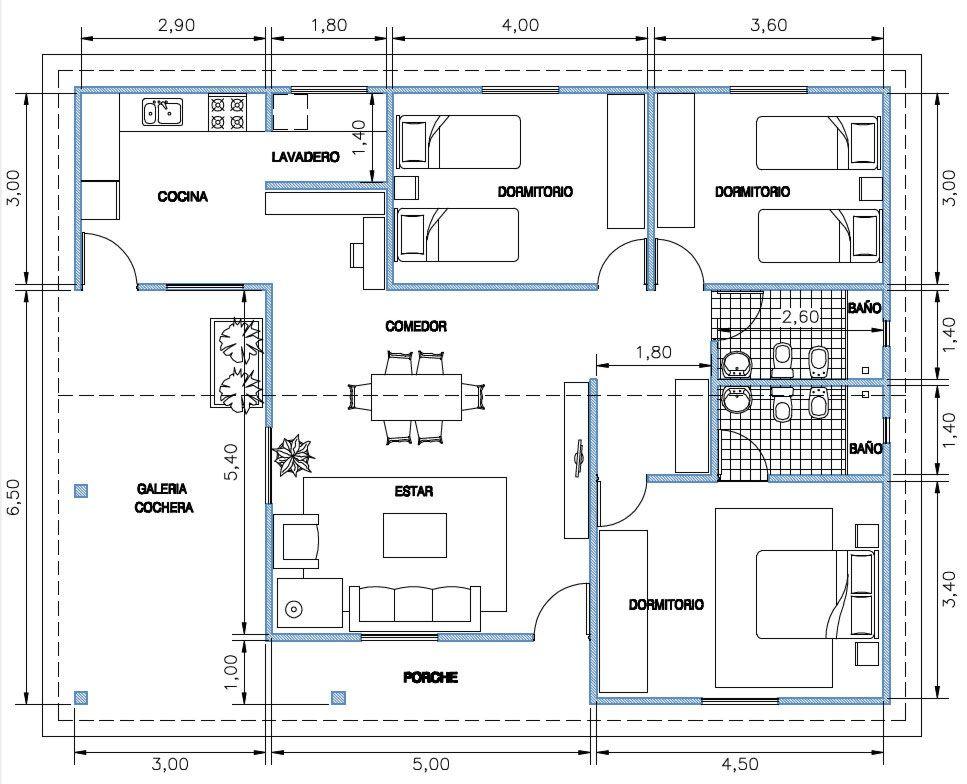Estandar 116 m2 Plans Pinterest Smallest house, House and Tiny - plan maison france confort