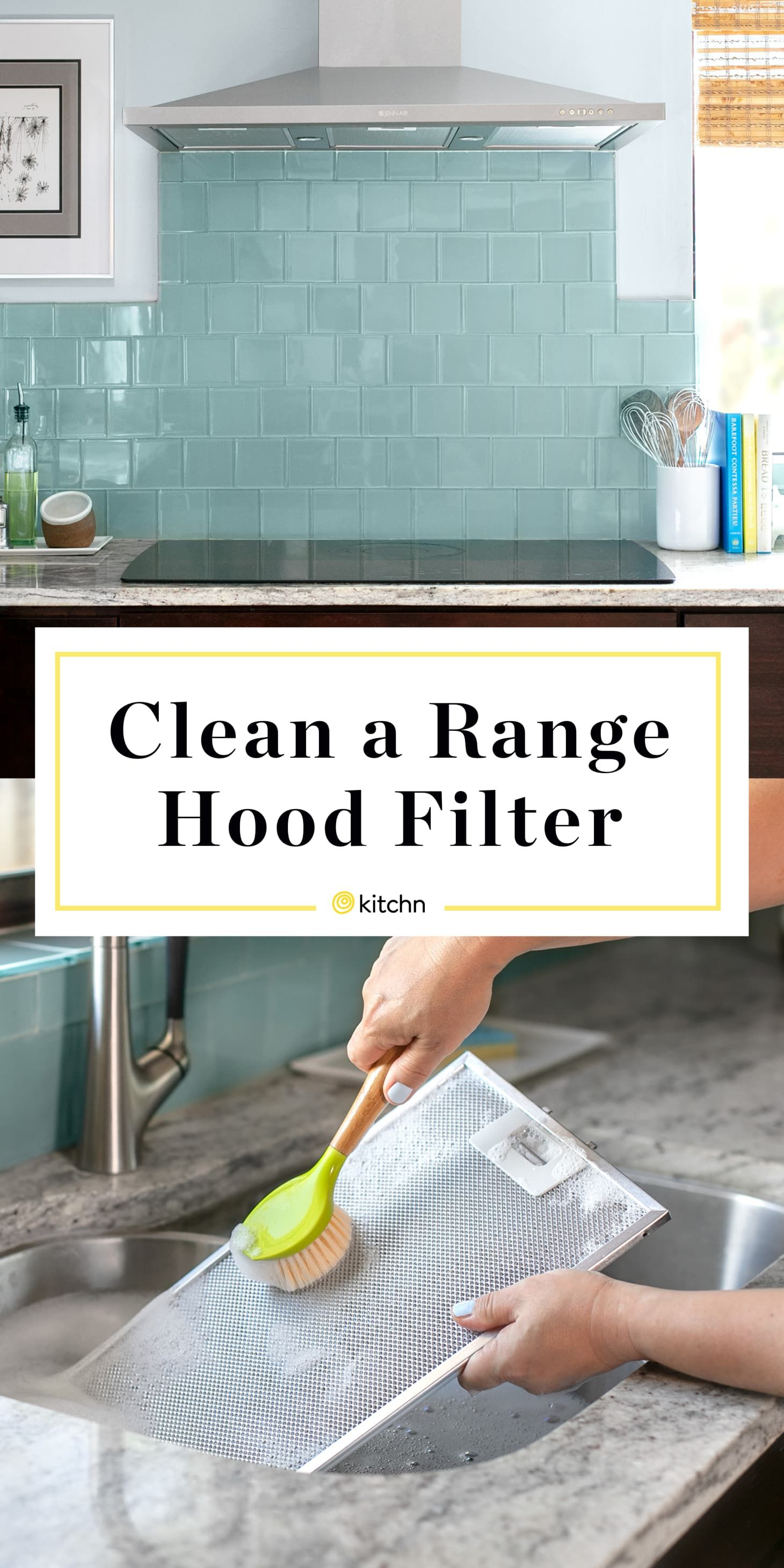 How To Clean A Greasy Range Hood Filter Range Hood Filters Kitchen Hood Cleaning Chimney Cleaning