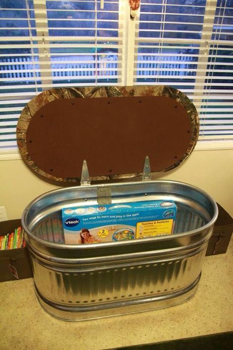 Baby Bedroom In A Box Special: Toy Box / Window Seat Made Out Of A Water Trough In A