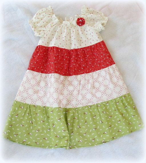Toddler Girl Three Tiered Peasant Dress - Toddler Girl Christmas Dress Size 4T on Etsy, $19.00