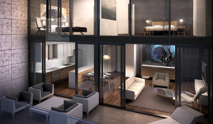 The OneEleven Bathurst Toronto condo interiors are designed by II by