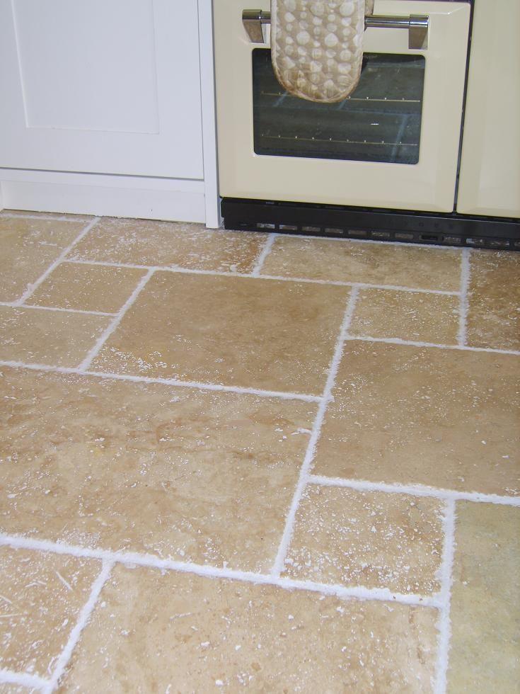 Travertine Tiles : Premium Select Light Travertine - Aged & Chiselled Edge