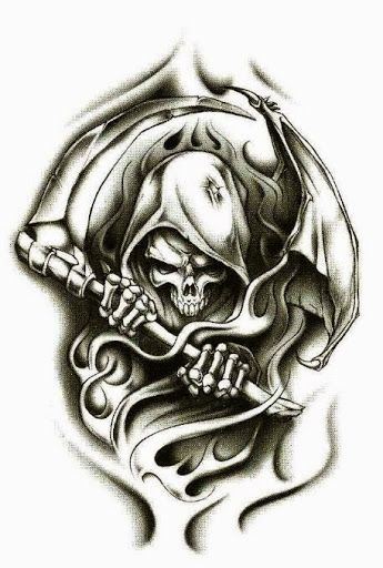 48 Horrifying Grim Reaper Tattoo Designs Reaper Tattoo Body Art
