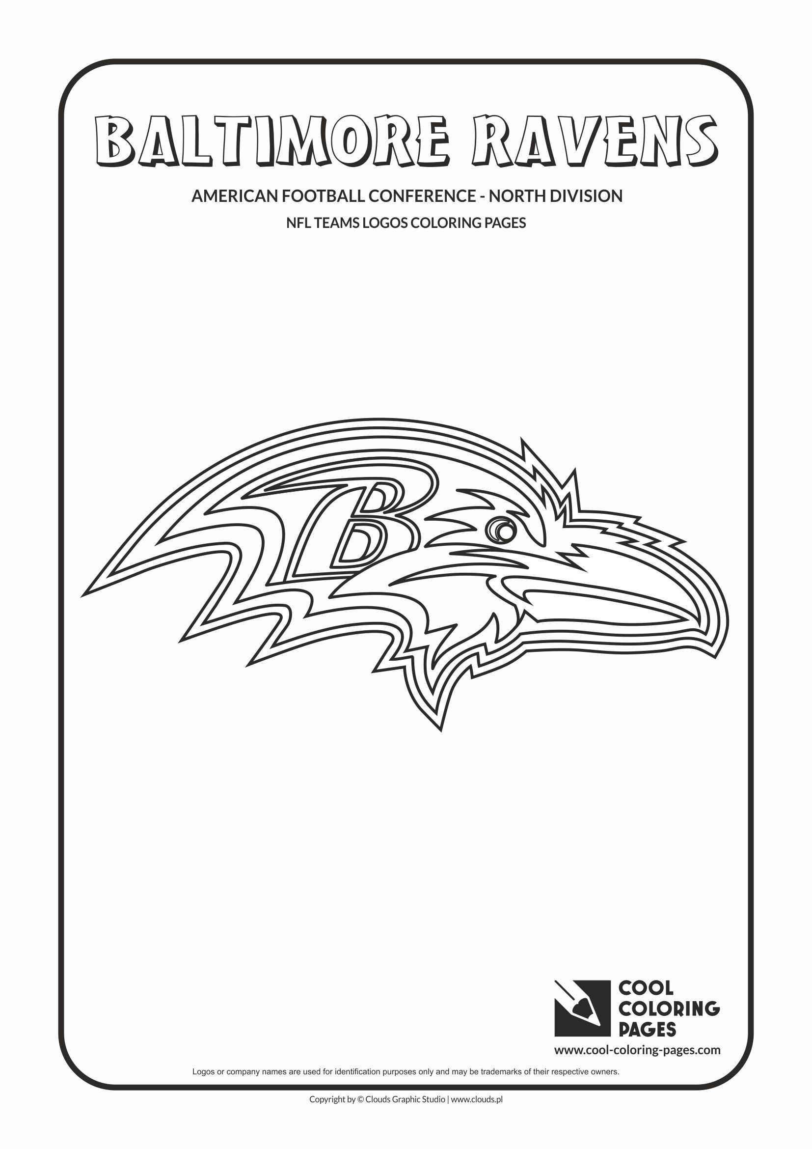 Baltimore Ravens Nfl American Football Teams Logos Coloring