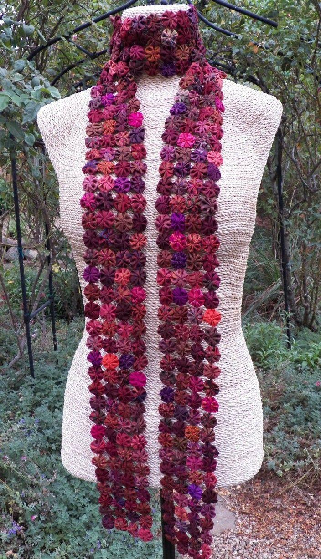 Yo Yo Scarf - Recycled silk scarf handmade by Thai fair trade artisans.