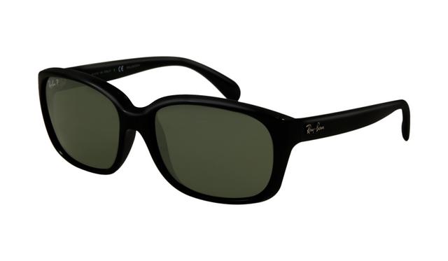 8dbfb87d83 Ray Ban RB4161 Sunglasses Black Crystal Frame Green Polarized Le ...