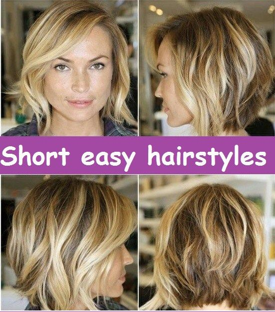 Short Easy Hairstyles Low Maintenance Hair Short Hair Styles Easy Thick Hair Styles