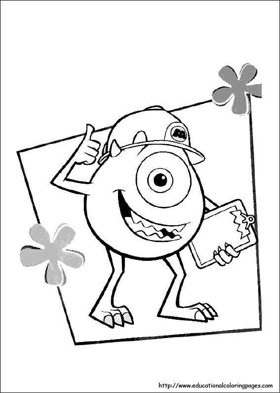 Cool Monsters Inc Coloring Book 12 Coloring Pages For Kids