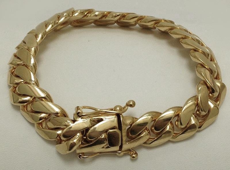 Very Impressive Solid 14k Gold Miami Cuban Link Men S