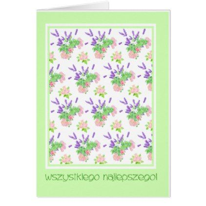 Pretty Floral Polish Language Greeting Birthday Card Birthday