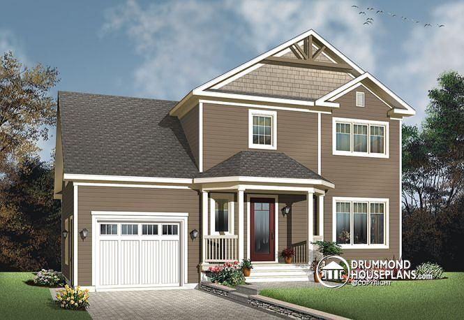 W3439-V1 - Transitional small house plan with functional open floor on nice house roofs, nice house windows, nice house stairs, nice house decks, nice house rooms,