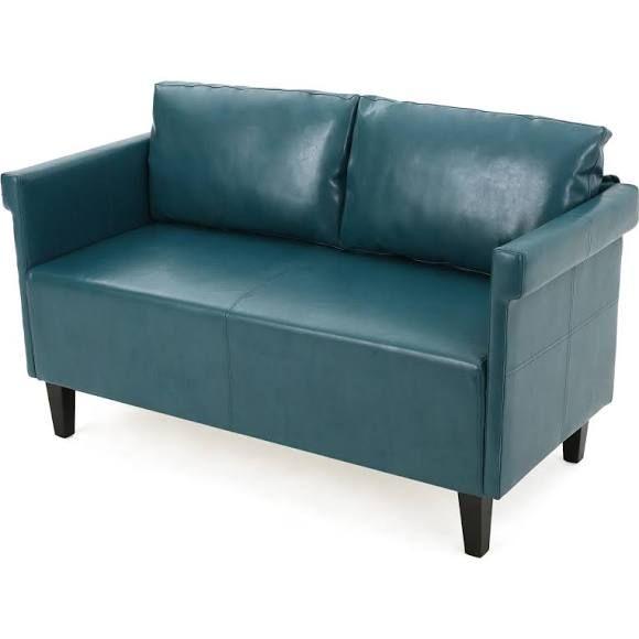 gdfstudio harbison leather loveseat settee love seat settee rh pinterest com