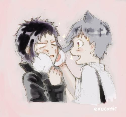 Atsushi on the catnip