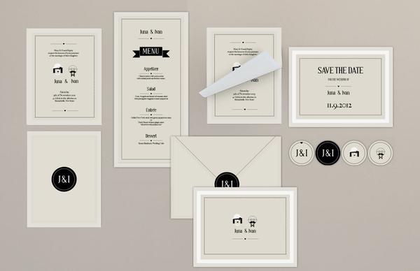 J wedding invitation by filiz sahin stationary stationery j wedding invitation by filiz sahin stopboris Gallery