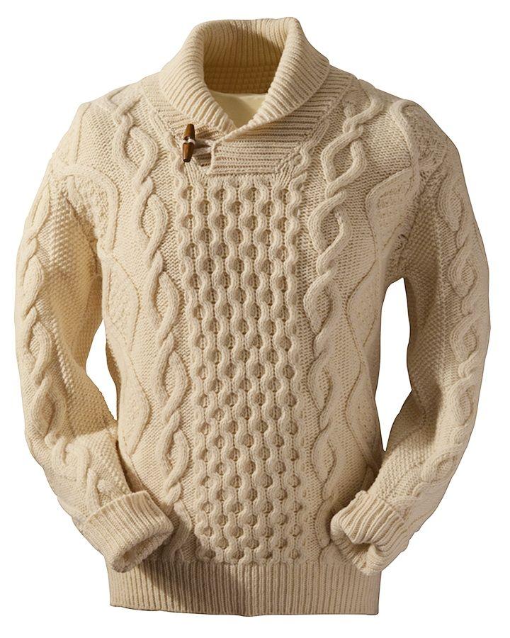 suéteres de ganchillo aran para hombres
