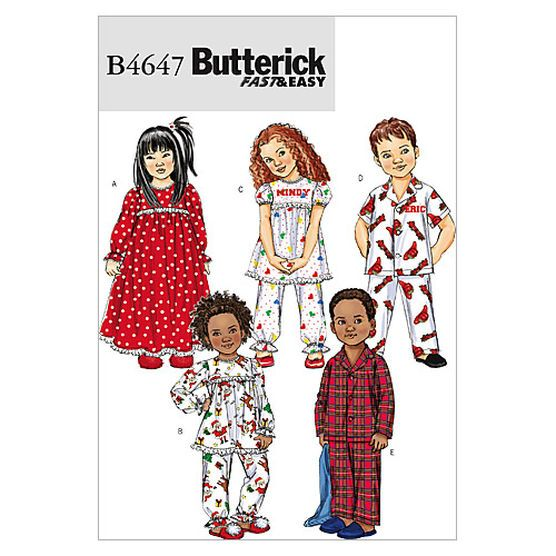 Toddlers\'/Children\'s Nightgown, Pajama Top and Pants-CB (1-2-3 ...