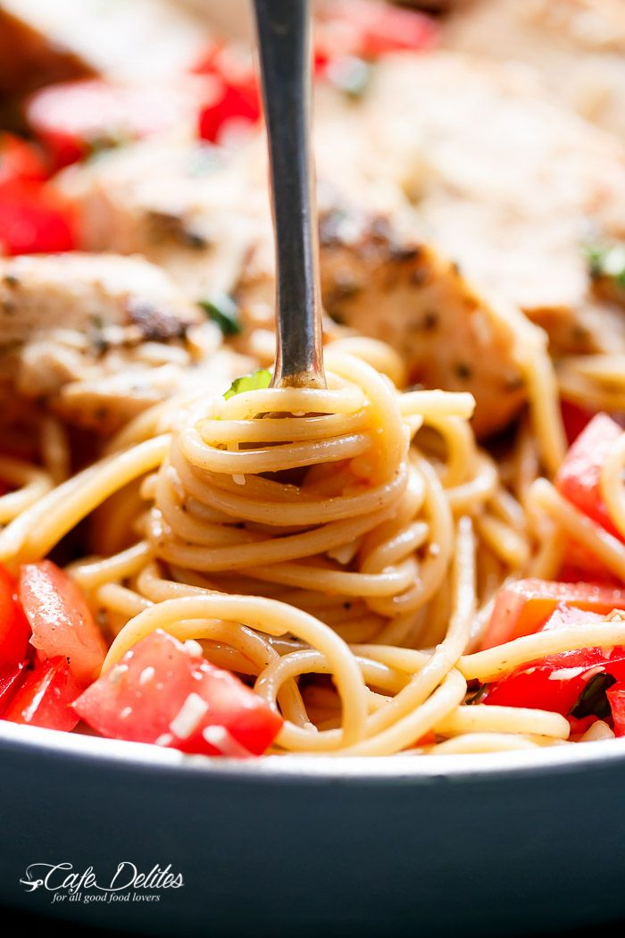 Bruschetta Chicken Pasta Salad is a must make for any ...