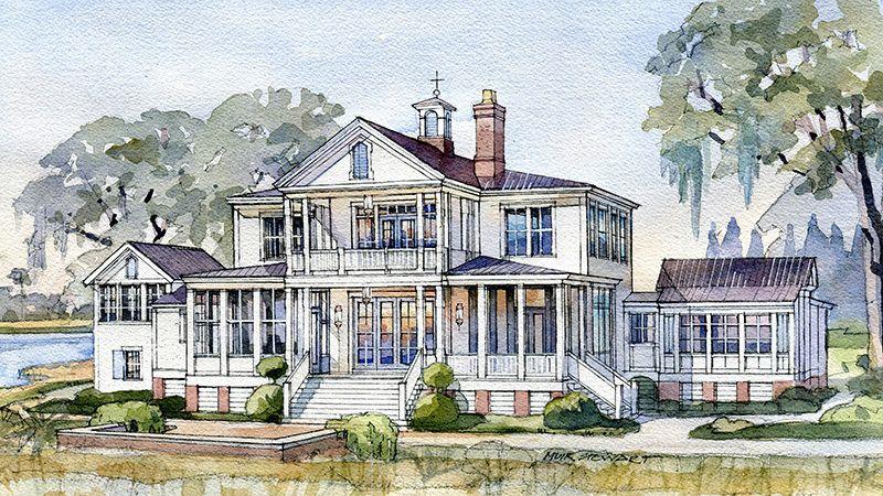 Crane island river house southern living house plans